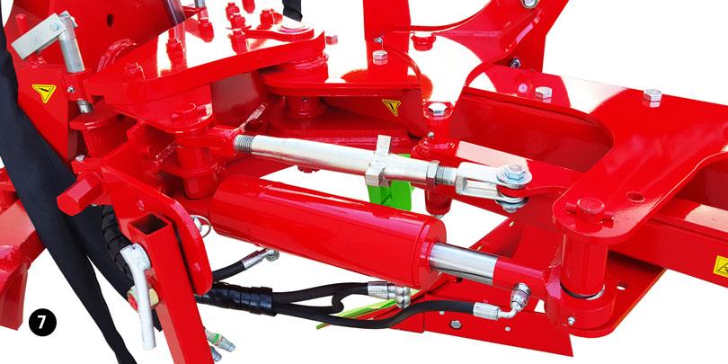 hydraulic working width