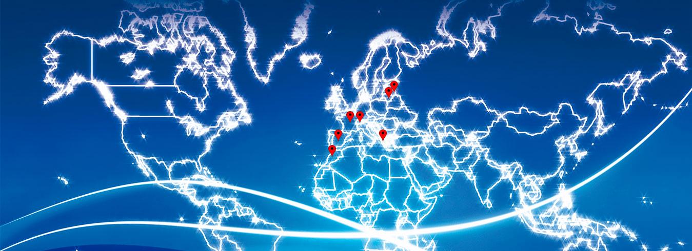 Localización en mapa de distribuidores