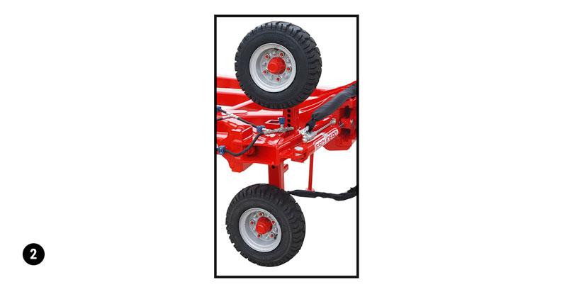 Double roue de contrôle pneumatique