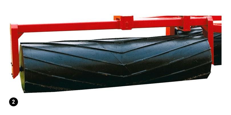 Rouleau à eau rainure en bande