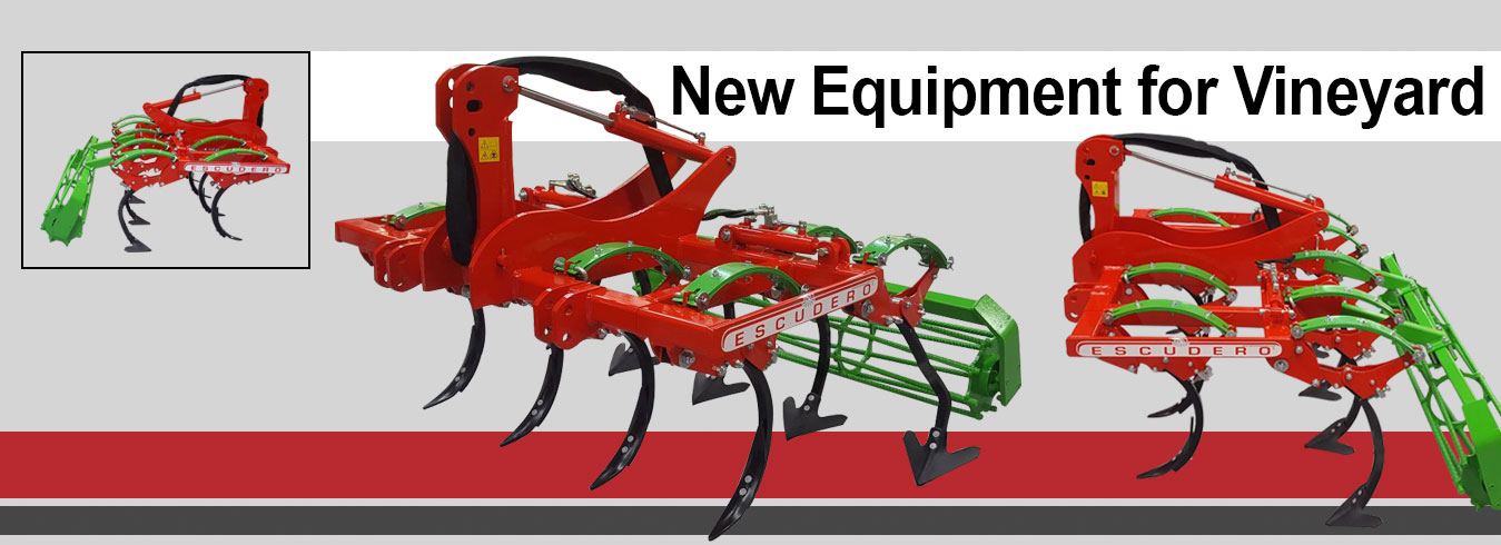 new equipment cultivator vineyard